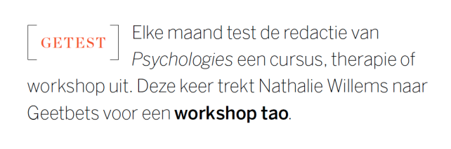 Artikel - Psychologies Getest